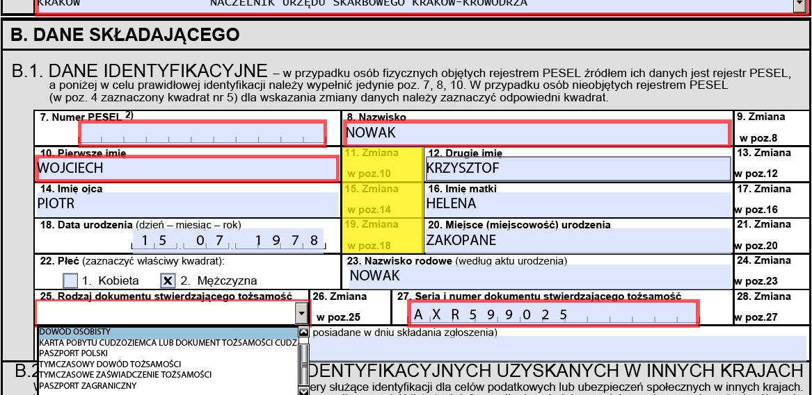 NIP number: personal data