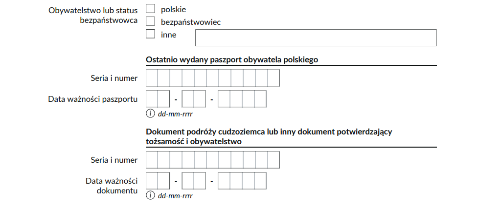 Legal basis for a PESEL number: the most recent passport of a Polish citizen