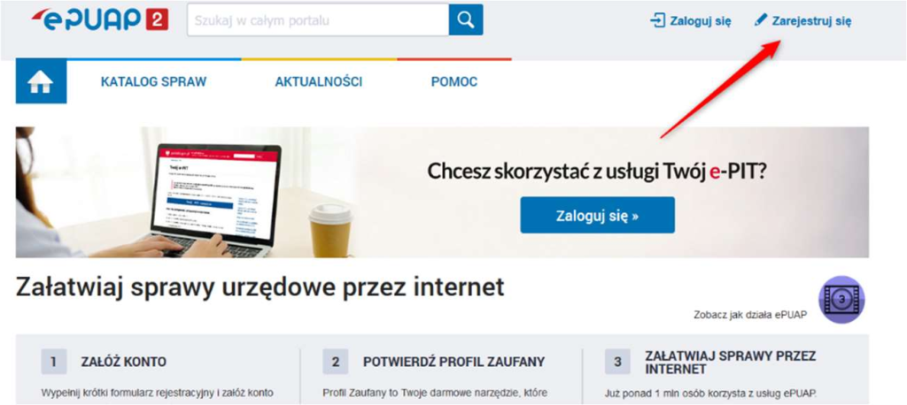epuap register screenshot 1