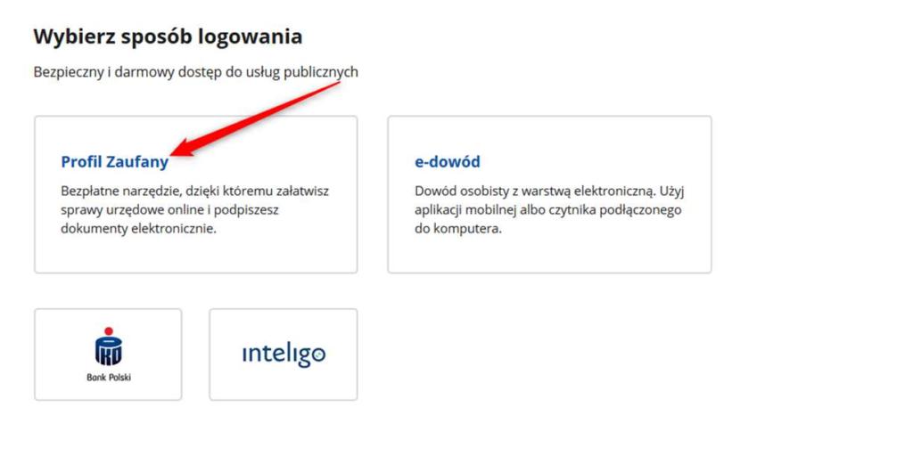 epuap login profil zaufany screenshot